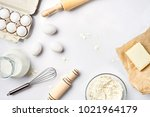 preparation of the dough. a... | Shutterstock . vector #1021964179