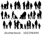 vector drawing parents and child | Shutterstock .eps vector #102196444