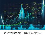 stock market or forex trading... | Shutterstock . vector #1021964980