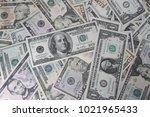 closeup of assorted american... | Shutterstock . vector #1021965433