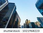 buildings city scape | Shutterstock . vector #1021968223