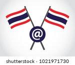 thailand emblem email | Shutterstock .eps vector #1021971730