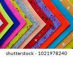 felt for handicrafts. | Shutterstock . vector #1021978240