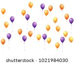 balloons group isolated vector... | Shutterstock .eps vector #1021984030
