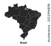 brazil map. vector illustration. | Shutterstock .eps vector #1021996858