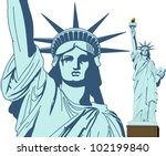 Statue Of Liberty In Vector Ar...