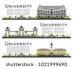 set of university study banners ... | Shutterstock .eps vector #1021999690