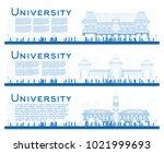 outline set of university study ... | Shutterstock .eps vector #1021999693