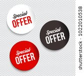 special offer banners. vector... | Shutterstock .eps vector #1022010538