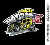 hot rod  american custom made... | Shutterstock .eps vector #1022012884