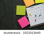 close up of calendar on the... | Shutterstock . vector #1022013640
