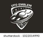 ufo flies in the sky above the... | Shutterstock .eps vector #1022014990