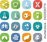flat vector icon set   molecule ... | Shutterstock .eps vector #1022020774
