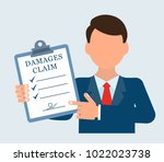 businessman is holding a... | Shutterstock .eps vector #1022023738