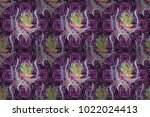 seamless pattern of hand drawn... | Shutterstock . vector #1022024413