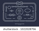 nautical rope knots and frames... | Shutterstock .eps vector #1022028706