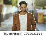 young man wearing winter...   Shutterstock . vector #1022031916