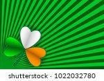 St Patrick's Day Card. Striped...