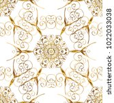 seamless textured curls.... | Shutterstock .eps vector #1022033038