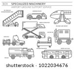 special machinery collection.... | Shutterstock .eps vector #1022034676