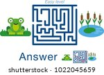 children's labyrinth with frog... | Shutterstock .eps vector #1022045659