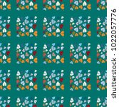 new color seamless pattern with ... | Shutterstock .eps vector #1022057776