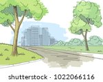 street road graphic color city... | Shutterstock .eps vector #1022066116