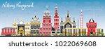 nizhny novgorod russia city... | Shutterstock .eps vector #1022069608