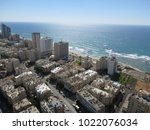 Tel Aviv Israel Beack Aerial...