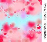 hearts random background. st.... | Shutterstock .eps vector #1022076463