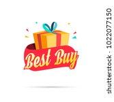 best buy shopping gift box   Shutterstock .eps vector #1022077150