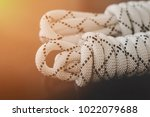 twist rope on glass table... | Shutterstock . vector #1022079688