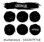 set of abstract grunge circle... | Shutterstock .eps vector #1022079718