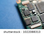 chip close up. selective focus | Shutterstock . vector #1022088313