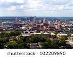 Skyline view of the city of Birmingham, Alabama looking toward the north.