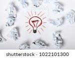 creative idea concept with... | Shutterstock . vector #1022101300