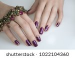 beautiful nail art manicure.... | Shutterstock . vector #1022104360