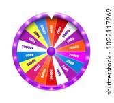 fortune wheel realistic... | Shutterstock .eps vector #1022117269