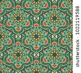 ornate floral seamless texture  ... | Shutterstock .eps vector #1022119588