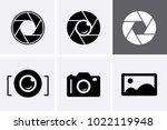 camera shutter  lenses and... | Shutterstock .eps vector #1022119948
