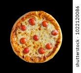 freshly baked homemade pizza... | Shutterstock . vector #1022120086