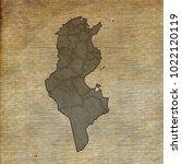 tunisia map old sketch hand... | Shutterstock . vector #1022120119