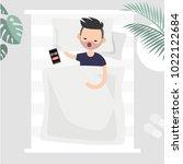 oversleep  conceptual... | Shutterstock .eps vector #1022122684