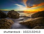 big rock on the beach | Shutterstock . vector #1022132413