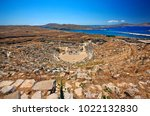 delos island  greece  june 21 ... | Shutterstock . vector #1022132830