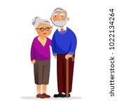happy granny and grandpa... | Shutterstock .eps vector #1022134264