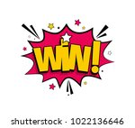comic lettering win. vector... | Shutterstock .eps vector #1022136646