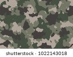 camouflage seamless pattern... | Shutterstock .eps vector #1022143018