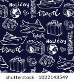 hand drawn doodle travel... | Shutterstock .eps vector #1022143549