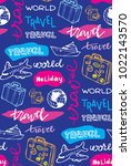 hand drawn doodle travel... | Shutterstock .eps vector #1022143570